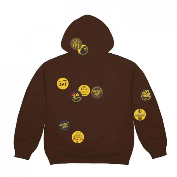 RAVIS SCOTT X MCDONALD'S Sticker Bomb Hoodie