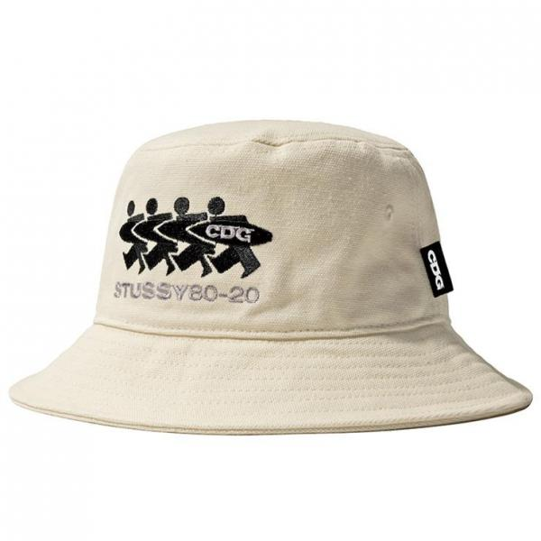 CDG3 Stüssy Canvas Bucket Hat