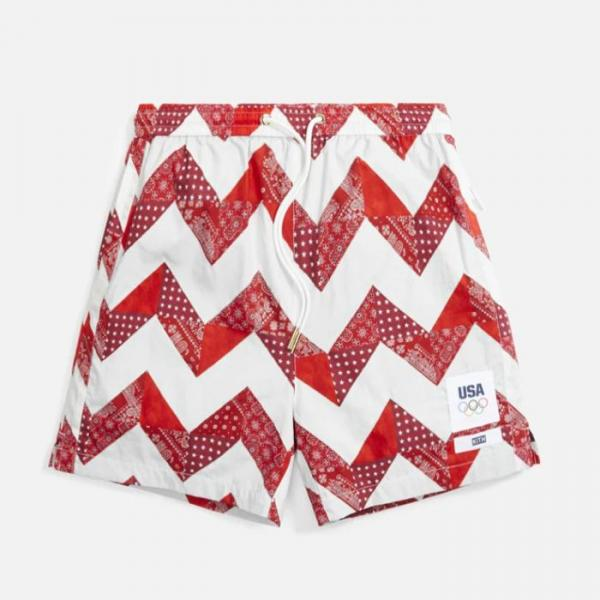Kith for Team USA Zig Zag Quilt Active Short