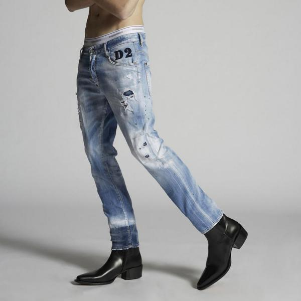 DSQUARED2 Light 1 Wash Skater Jeans