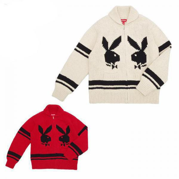 Playboy Shawl Collar Full Zip Sweater