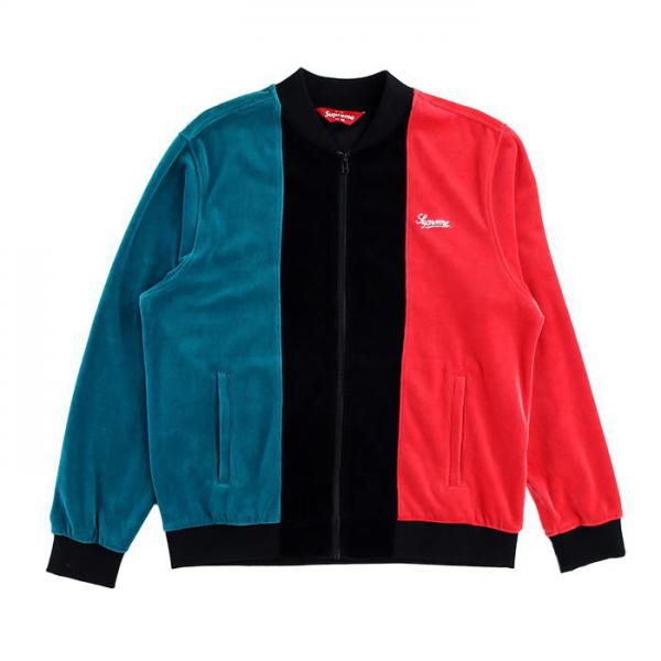 Velour Zip Up Jacket