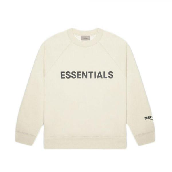 ESSENTIALS FRONT LOGO CREW SWEAT