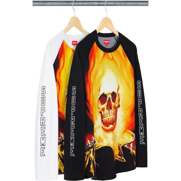 SUPREME LONG-SHIRT MEN'S Ghost Rider© Raglan L/S Top