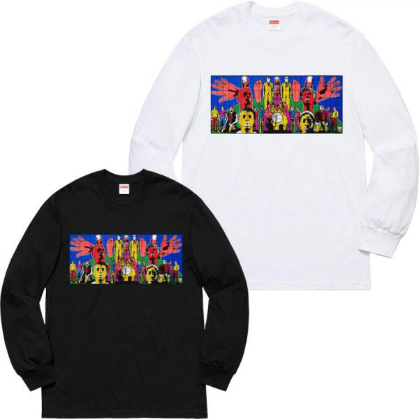 SUPREME LONG-SHIRT MEN'S Gilbert & George/Supreme DEATH AFTER LIFE L/S Tee